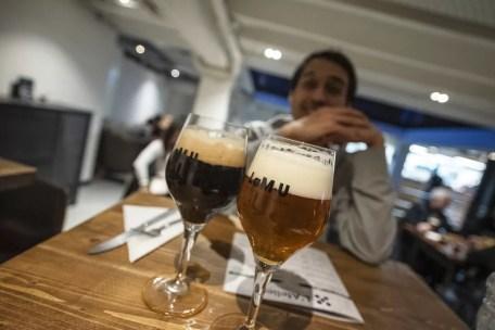 Drinking beers in LAMU Charleroi