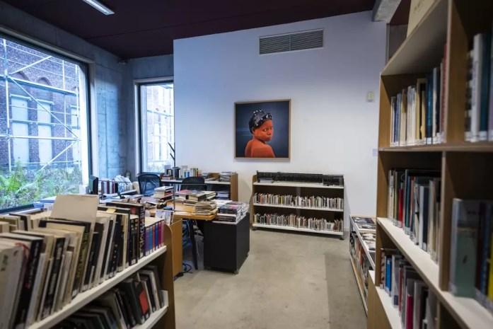 The library of Musée de la Photographie Charleroi
