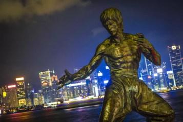 Hong Kong - Standbeeld van Bruce Lee