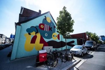 Street Art in Antwerpen - Boho Mermaid by Lucia Biancalana
