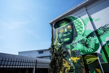 Street Art in Antwerpen - Mother Nature by Linksone