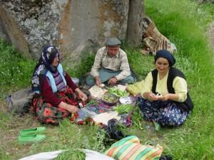 Turkse familie eten