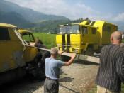 Truck in de berm 3