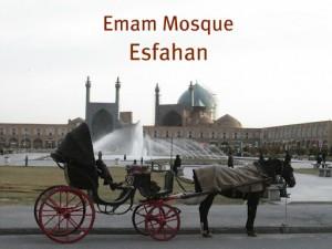 Emam Mosque met koets