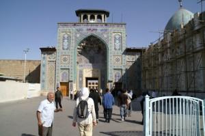 Ingang moskee goed
