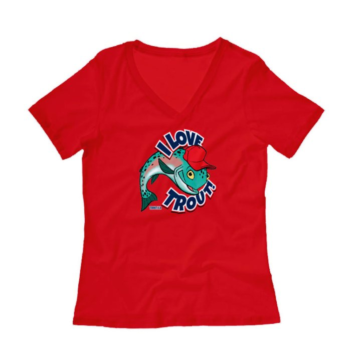 I Love Trout Womens Shirt