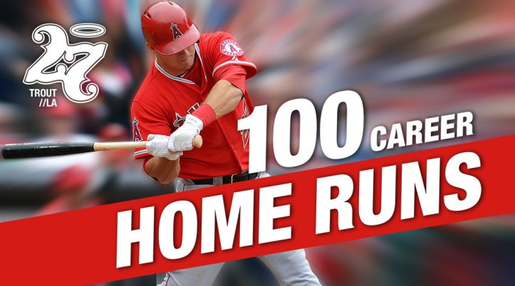 MIke Trout 100 home runs