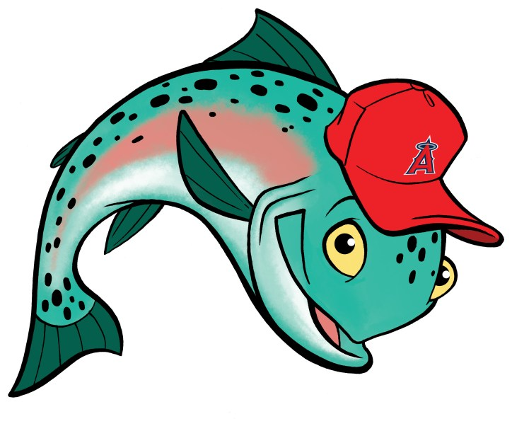 Mike Trout fish cartoon