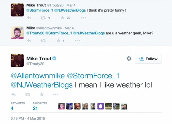 Mike Trout Loves the weather