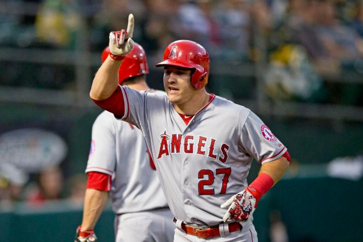 Mike Trout Angels Finger Wag