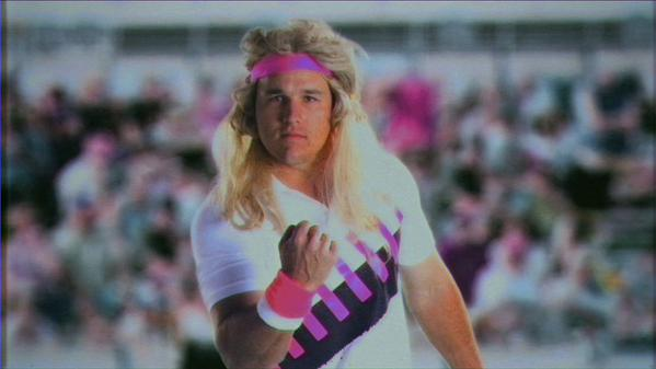 Mike Trout dressed as Andre Agassi