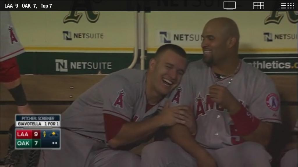 Mike Trout loves Albert Pujols