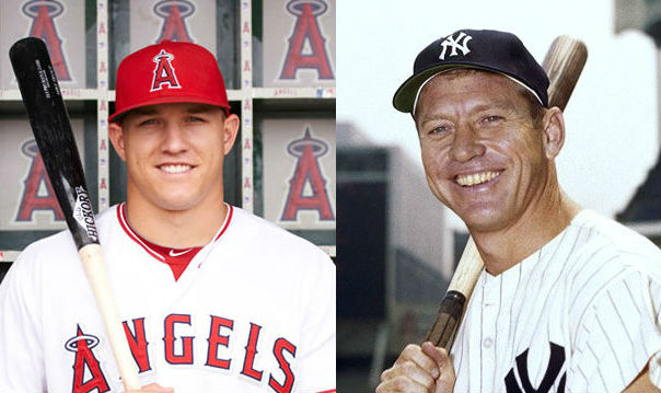 Mickey Mantle nd MIke Trout
