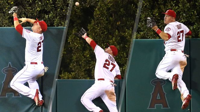 Mike Trout's incredible wall catch highlights the 2016 promotional items