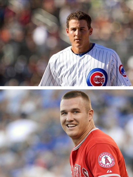 Mike Trout and Anthony Rizzo