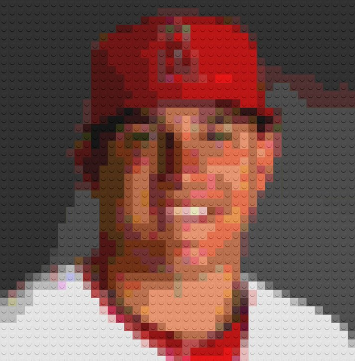Mike Trout Lego Mosaic