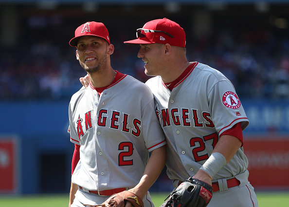 Mike Trout and Andrelton Simmons