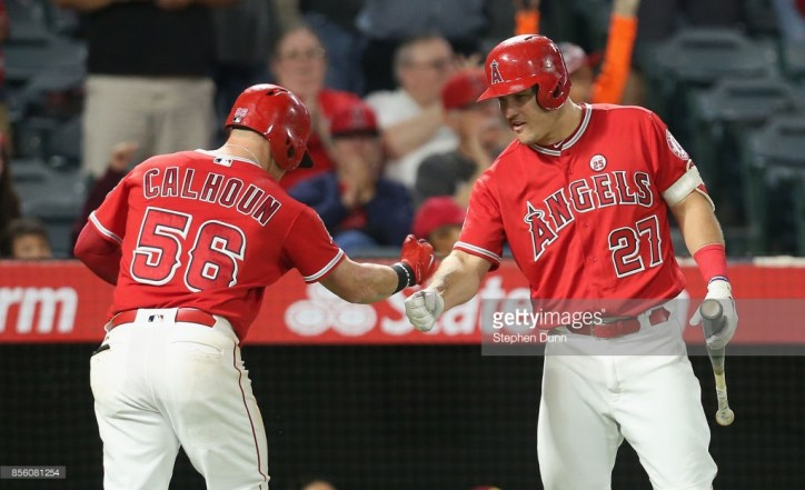 Mike Trout and Kole Calhoun