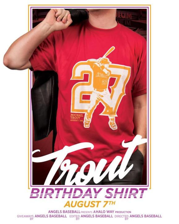 Mike Trout Birthday Shirt