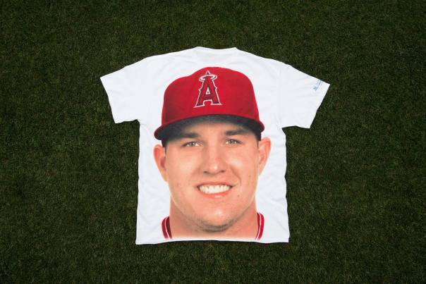 Creepy Mike Trout Face T-shirt