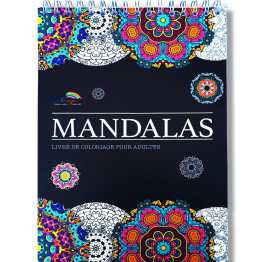 LIVRE DE COLORIAGE ADULTES MANDALAS ANTI-STRESS : LE PREMIER CAHIER DE COLORIAGE A SPIRALES ET PAPIER ARTISTE PAR COLORYA