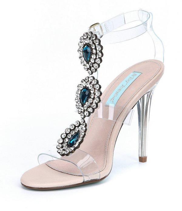 Transparante trouwschoenen met stenen Betsey Johnson