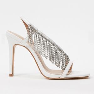 Witte trouwschoenen met diamantjes Forever New