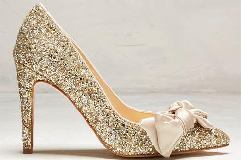 Gouden trouwschoenen Rachel Simpson