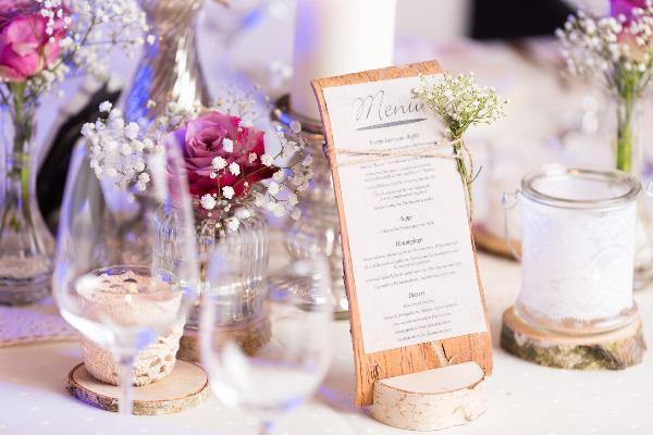 trouwkaart menu