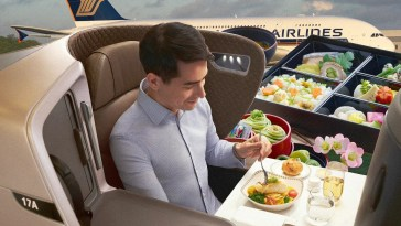 Singapore Airlines transforme ses avions en restaurants