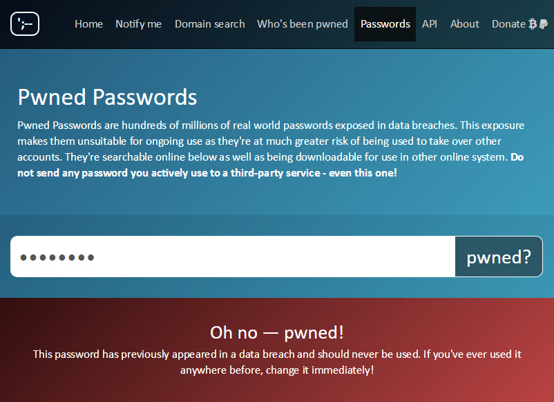 Password is Pwned