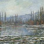 Claude Monet The Thaw at Vetheuil [Public domain], via Wikimedia Commons
