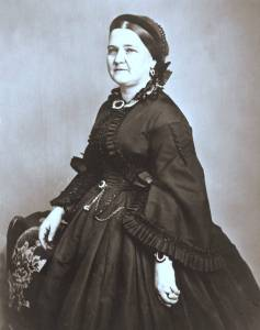 Was she haunting my room? Mary Todd Lincoln, [Public domain], via Wikimedia Commons.