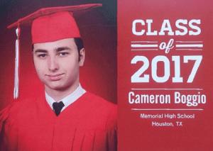 Cameron Boggio, Memorial High School class of 2017.