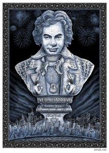 Neil Diamond at New York poster by EMEK, 2012