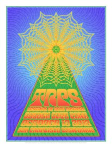 TRPS Festival of Rock Posters 2012 Artist Relief poster by Dave Hunter
