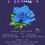 Blue Rose Ball 2014 benefit rock poster by Stanley Mouse