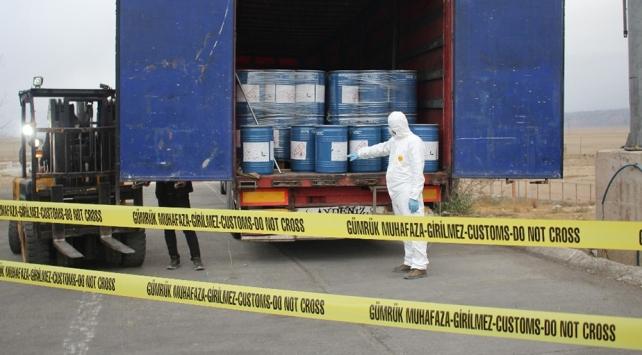 Gürbulak Sınır Kapısında 18,4 ton sodyum siyanür ele geçirildi