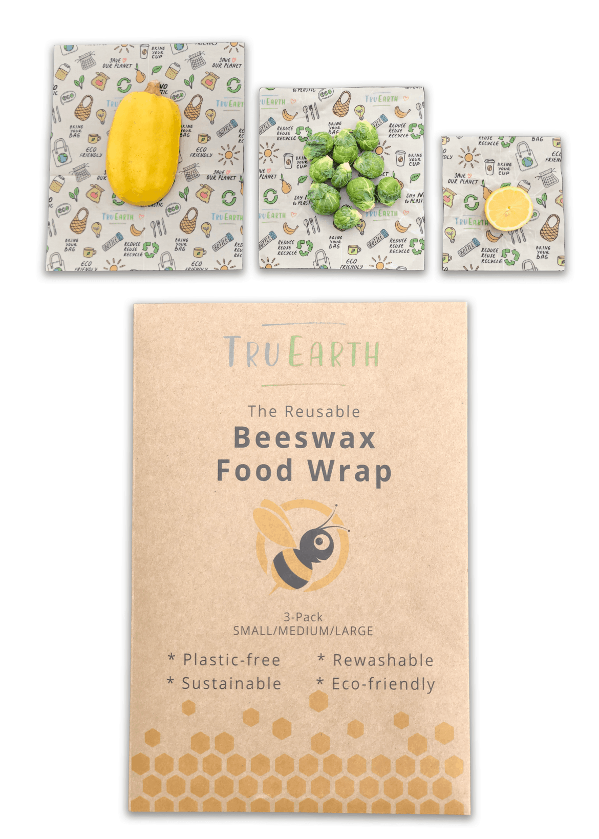 Tru Earth - Beeswax Food Wrap Assorted 3-pack   NOW: $19.95