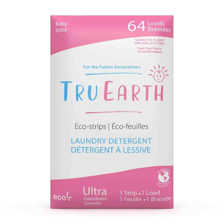 Tru Earth - Tru Earth Eco-strips Laundry Detergent (Baby) – 64 Loads   NOW: $35.95