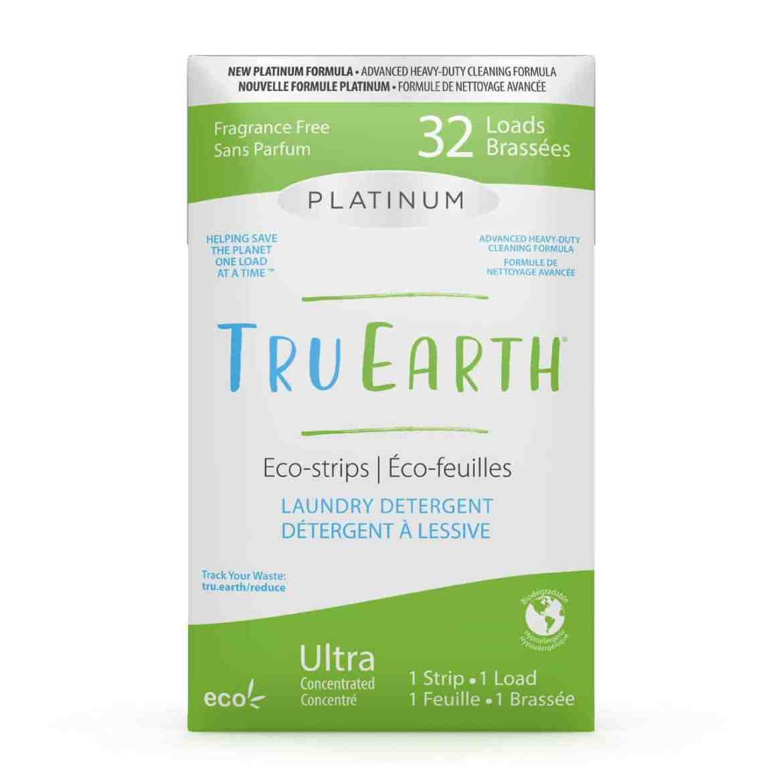 Tru Earth - Tru Earth Eco-strips Platinum Laundry Detergent (Fragrance-free) – 32 Loads   NOW: $21.95