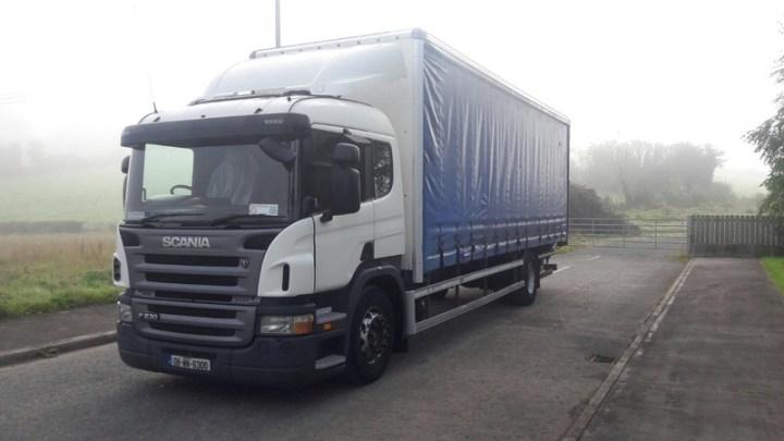 Curtainsider Truck Scania P230