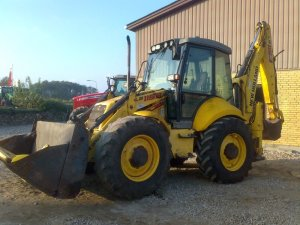 NEW HOLLAND LB115 backhoe loader from Germany for sale at