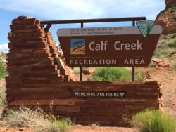 Utah Route 12 Scenic Byway, Calf Creek Recreation Area