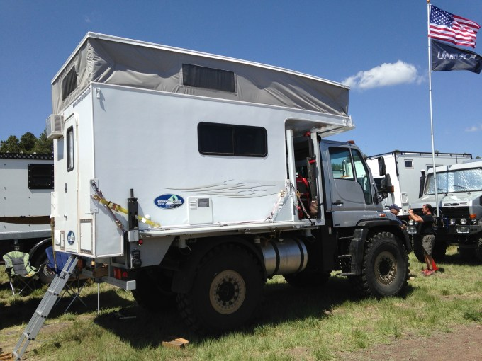 Unimog U500 and Phoenix Pop-Up Truck Camper