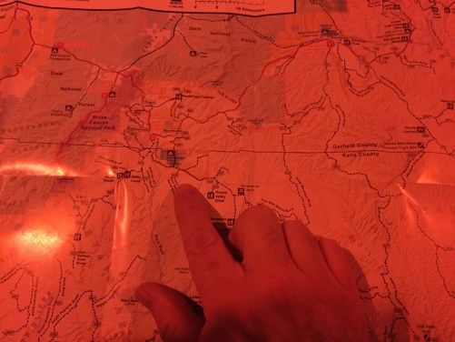 map reading using red light
