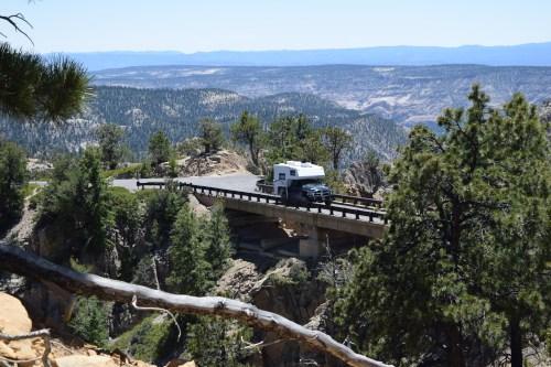 Hell's Backbone Bridge Utah - Truck Camper Adventure
