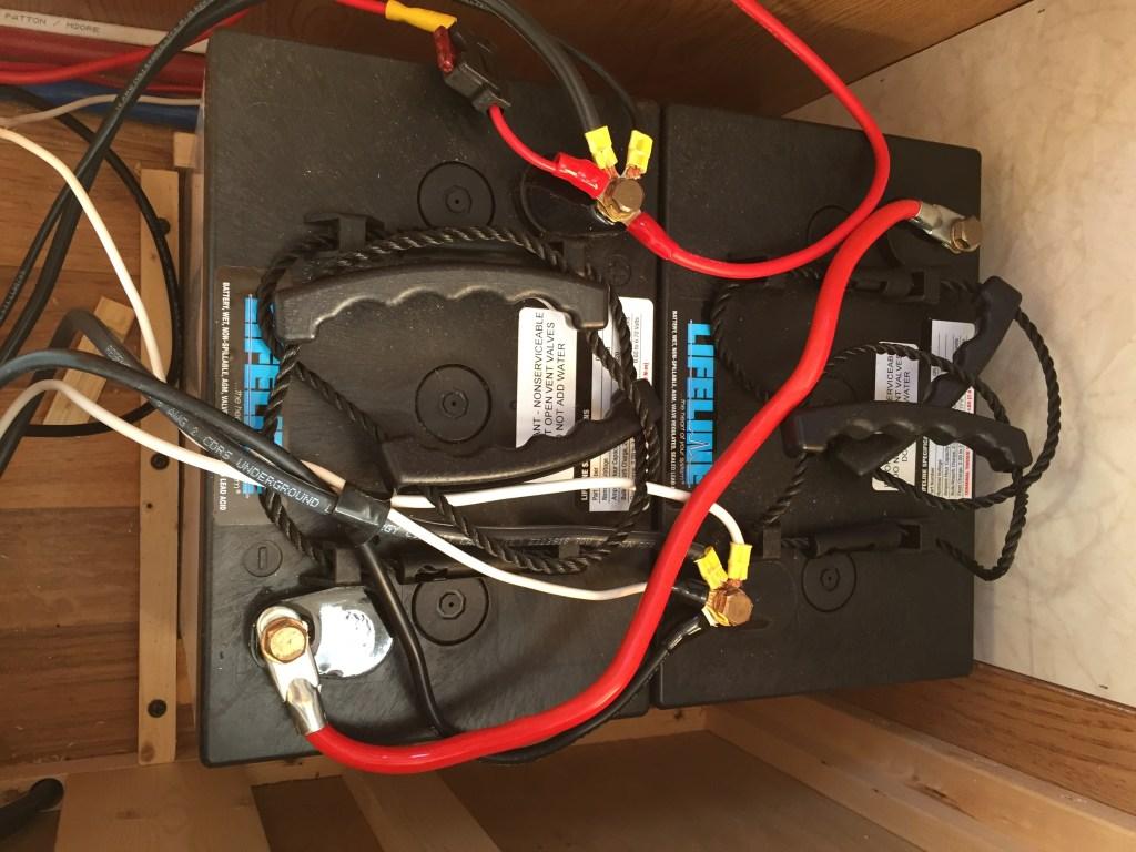 Lifeline 6 volt AGM Batteries - Inside Mount Under Dinette Seat