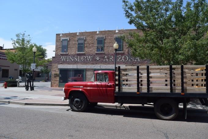 Standin on the Corner - Route 66 - Truck Camper Adventure