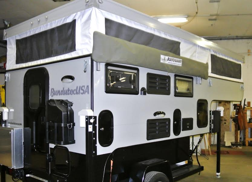 in the spotlight the bunduhalf wing fold out awning truck camper adventure